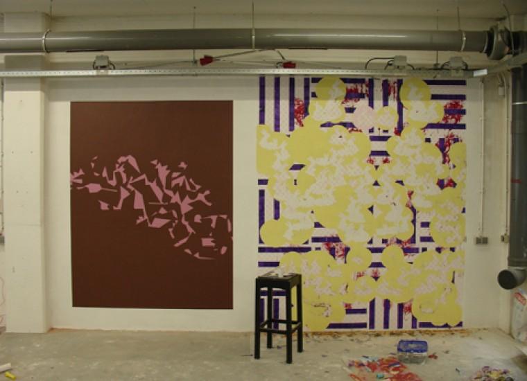 Muurschilderingen van Jasper van der Graaf en Guido Nieuwendijk