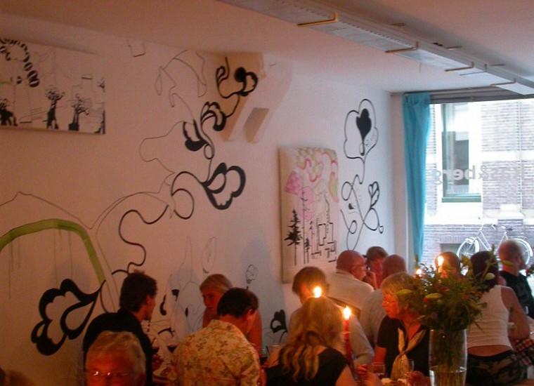 diner bij expositie Marije Vermeulen