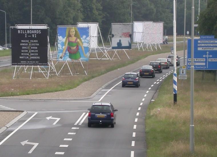 Billboards langs de Europaweg in Apeldoorn