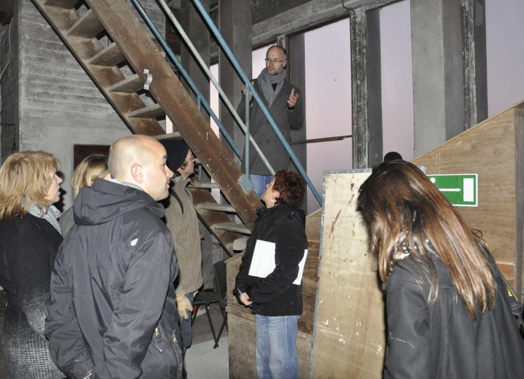 rondleiding in de silo