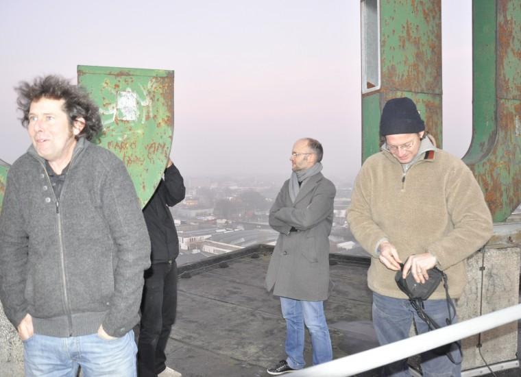 op de silo - koud en hoog!